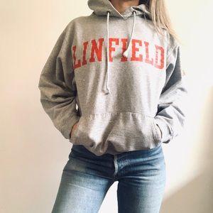 Vintage Linfield Oregon College Hoodie Sweatshirt